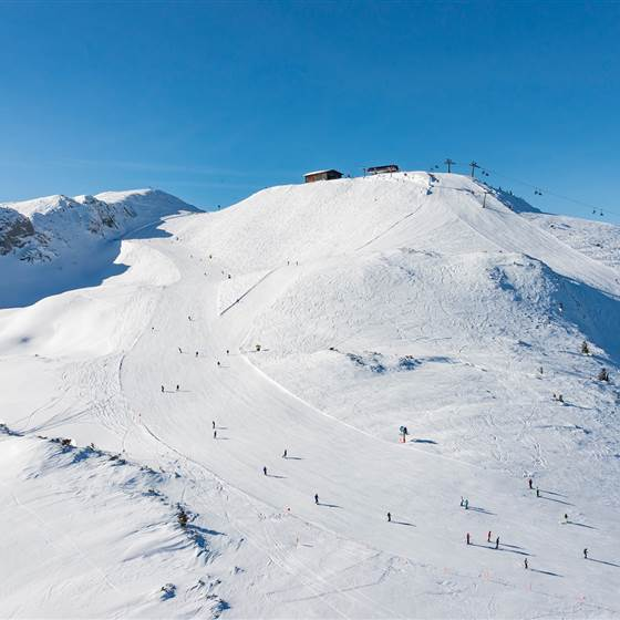 Berg mit Skiabfahrten