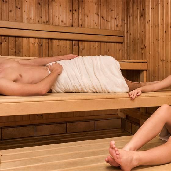 Sauna mit Personen
