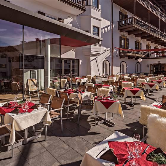Terrace in Hotel Unterwirt