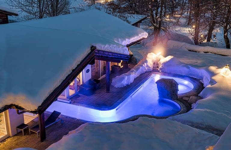 outdoor swimming pool in winter