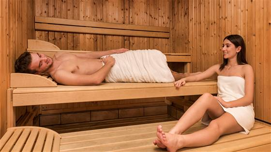 Sauna with people