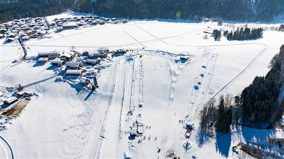 erial photograph of cross-country skiing track