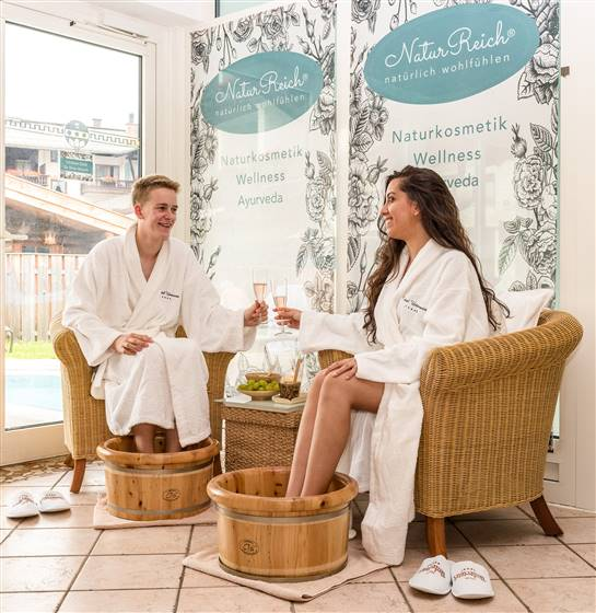 Couple at a spa area
