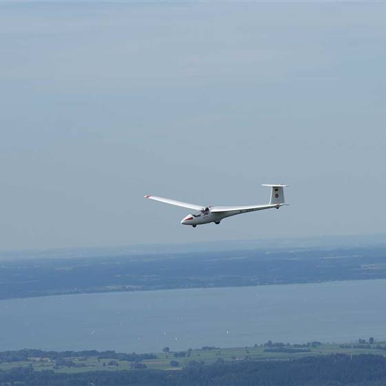 Segelflugzeug Luftaufnahme