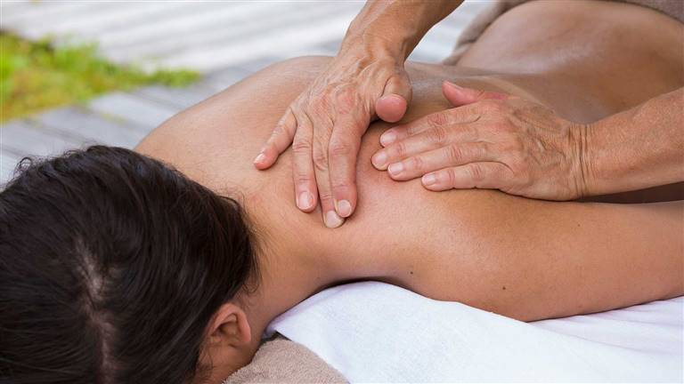 woman at a massage